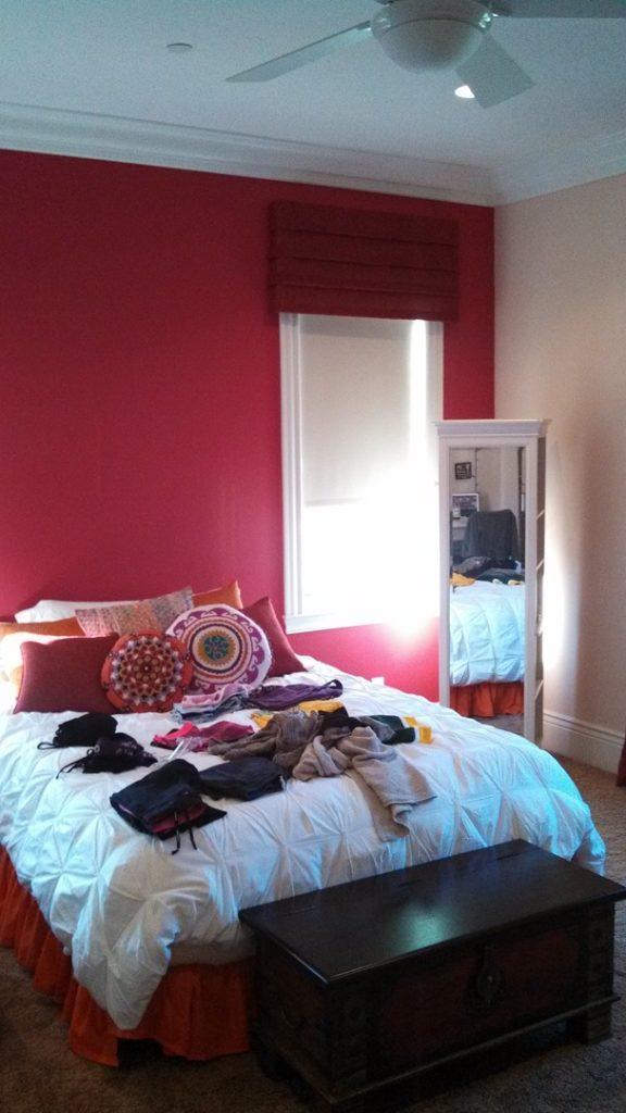 bedroom paint job
